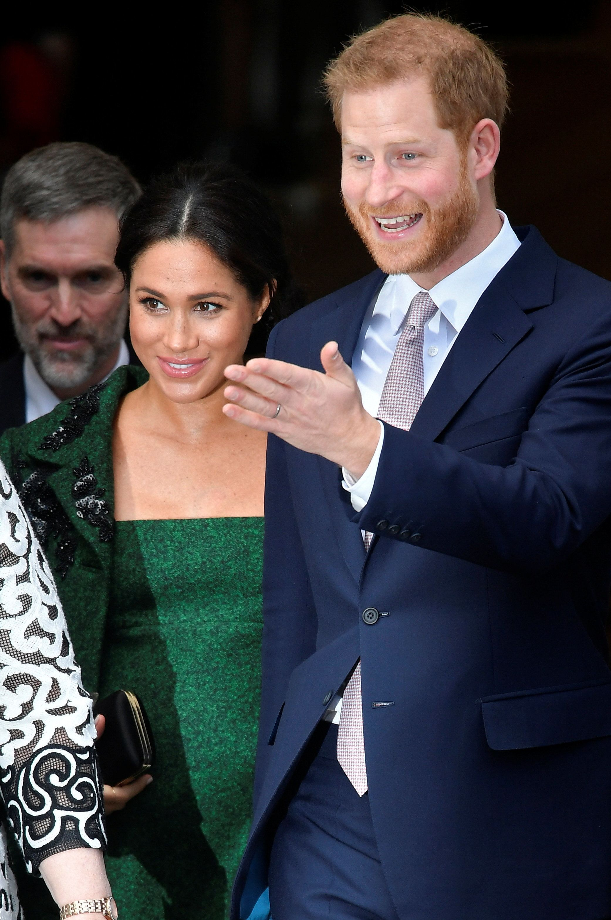 Britain's Prince Harry and Meghan, Duchess of Sussex leave after a Commonwealth Day youth event at Canada House in London, Britain March 11, 2019.  REUTERS/Toby Melville