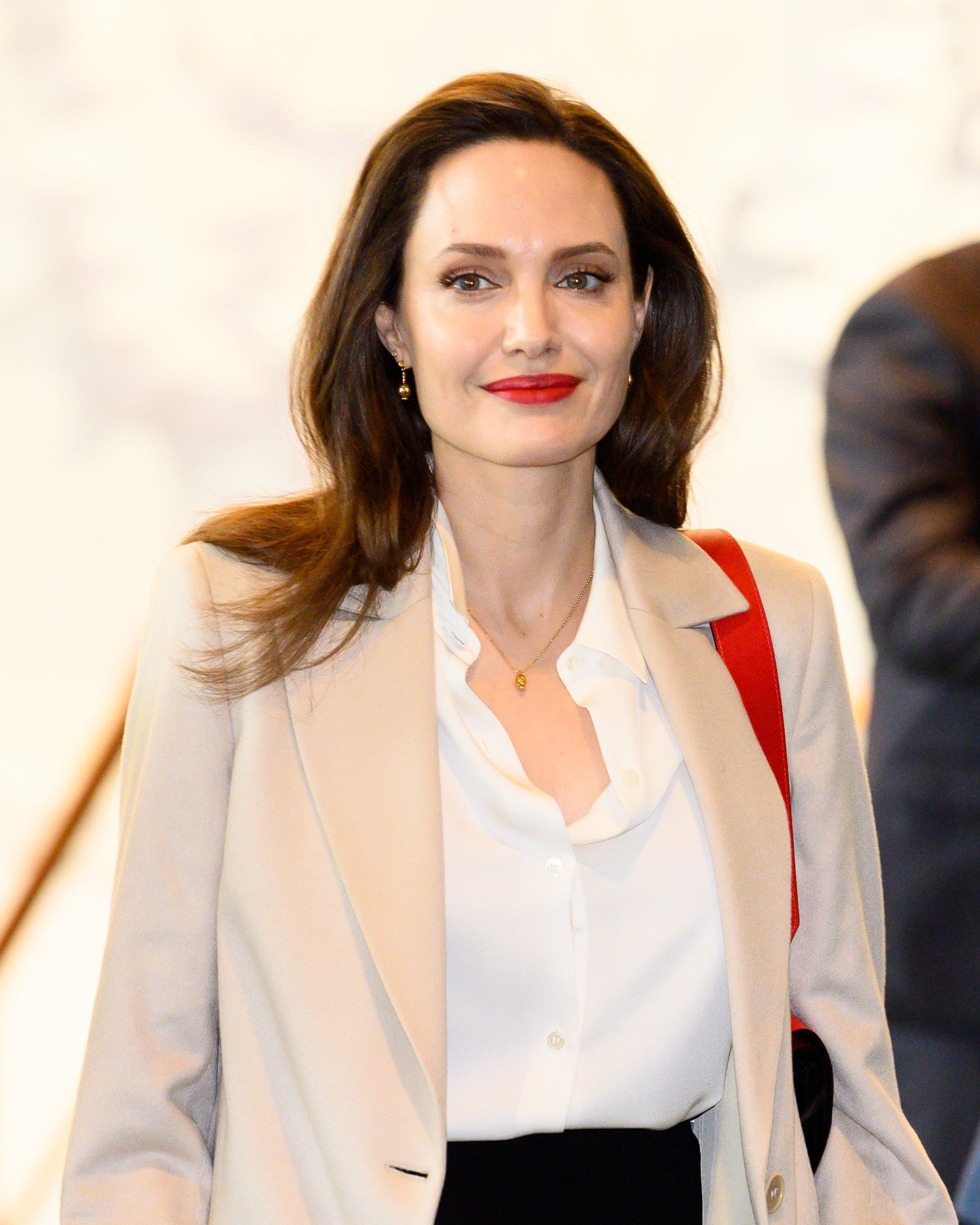 NEW YORK, NY, UNITED STATES - 2019/03/29: Angelina Jolie, Actor and UNHCR Special Envoy seen during the United Nations General Assembly in New York City. (Photo by Michael Brochstein/SOPA Images/LightRocket via Getty Images)