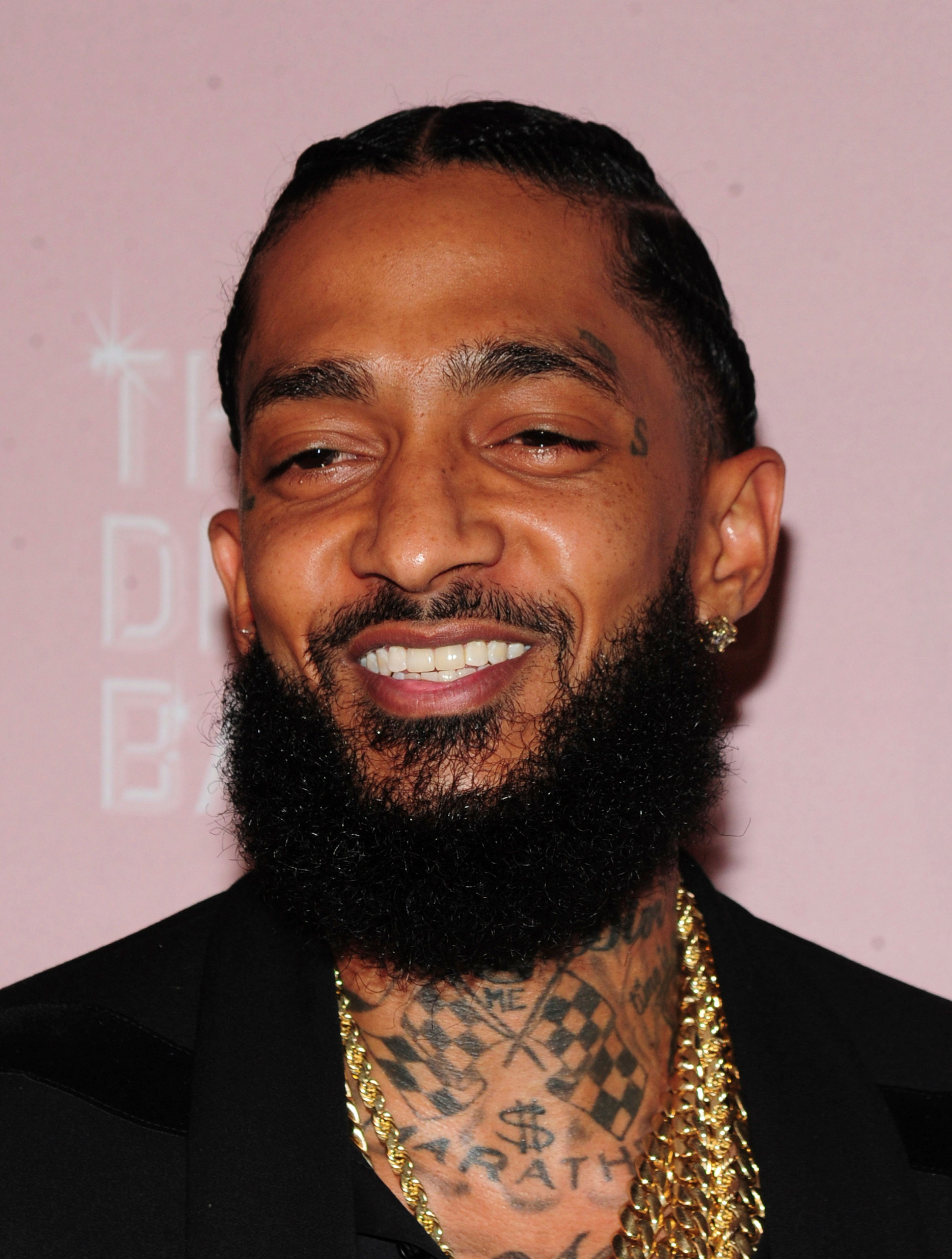 ***FILE PHOTO*** Rapper Nipsey Hussle killed in shooting outside his clothing store in Los Angeles. NEW YORK, NY - September 13: Nipsey Hussle attends the 2018 Diamond Ball at Cipriani Wall Street on September 13, 2018 in New York City. Credit: John Palmer / Media Punch /IPX