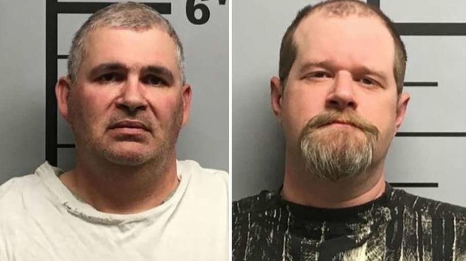 Charles Ferris (left) and Christopher Hickshave been arrested on suspicion of aggravated assault after police say they