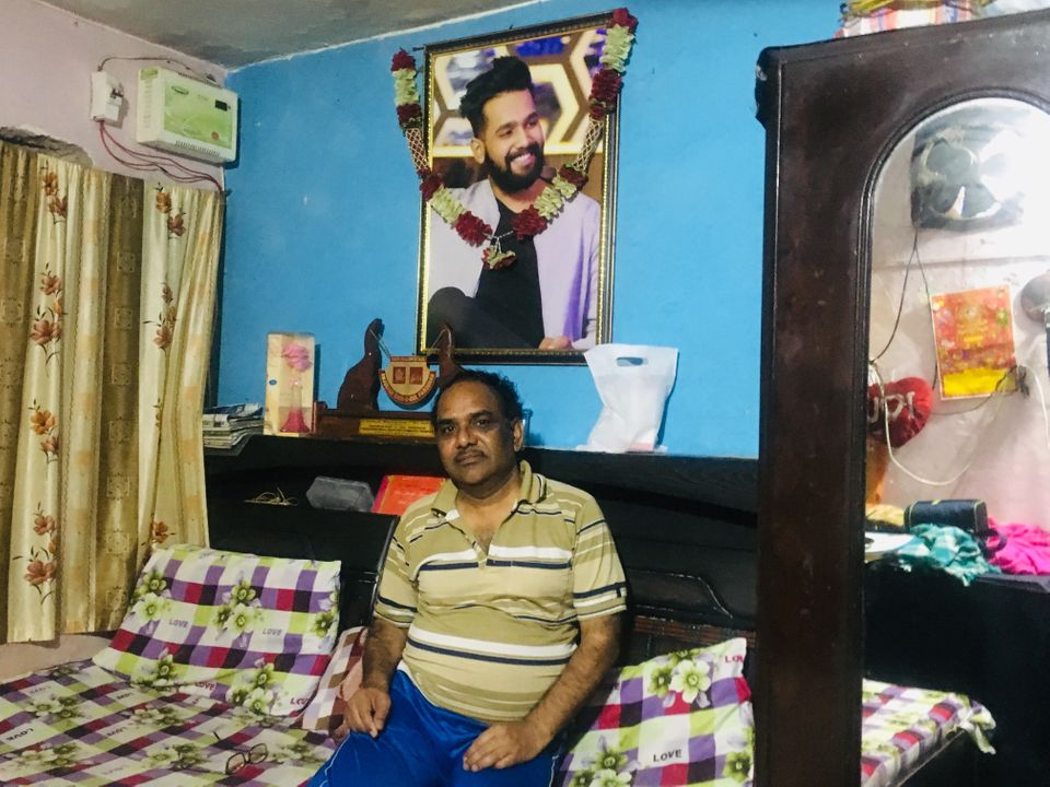 Yashpal Saxena, Ankit Saxena's father, at his home in West