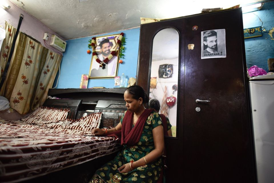 Kamlesh, Ankit Saxena's mother, at her home in West