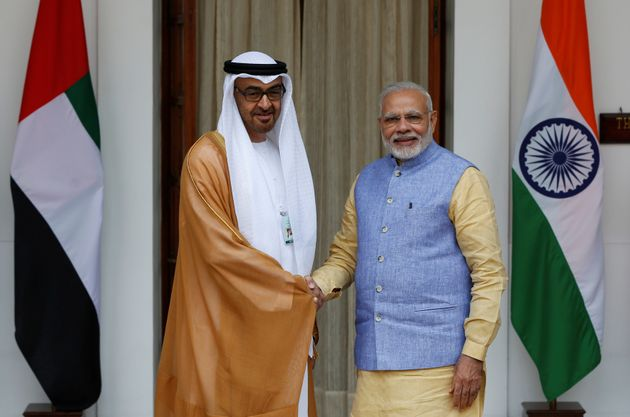 Sheikh Mohammed bin Zayed al-Nahyan and Prime Minister Narendra
