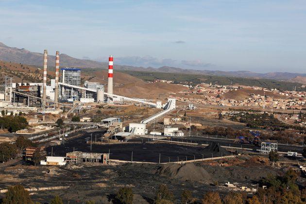 La centrale thermique de Jerada au Maroc, le 20 janvier