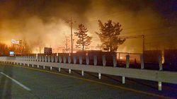 강원 고성에서 산불이 발생해 주민들이