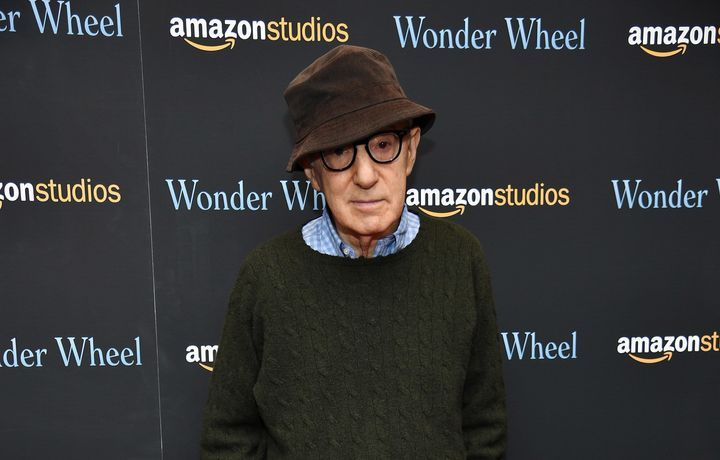 "Woody Allen while promoting his 2017 film ""Wonder Wheel,"" his last movie released by Amazon Studios."
