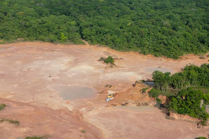 Deforestation in the Amazon rainforest, Brazil.