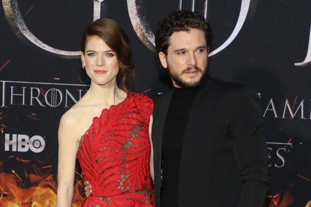 Rose Leslie (Ygritte) et Kit Harington (Jon Snow) à la première de