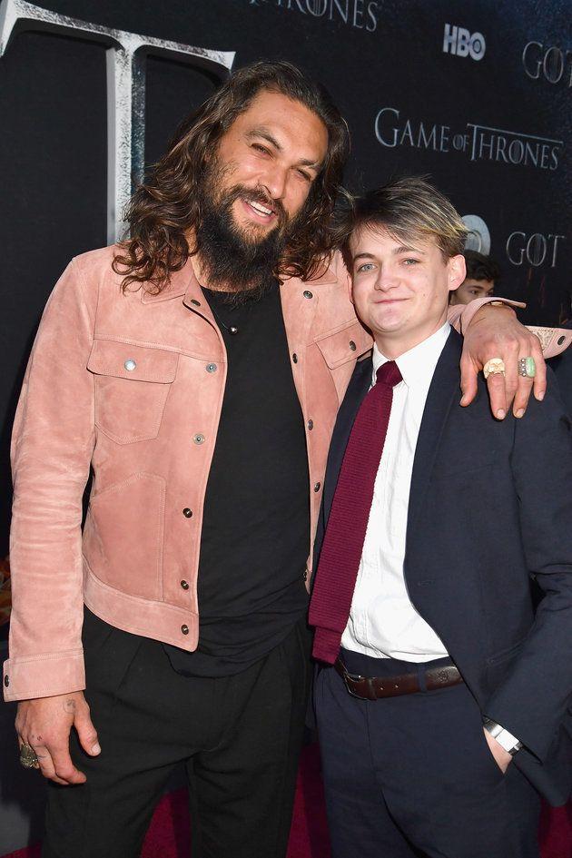 Jason Momoa (Khal Drogo) et Jack Gleeson (Joffrey
