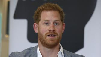 Britain's Prince Harry, Duke of Sussex gestures during a discussion, while on a visit to YMCA South Ealing in west London on April 3, 2019, to learn more about their work on mental health and see how they are providing support to young people in the area - YMCA South Ealing is part of YMCA St Paul's Group, which provides services across South West, South and East London, and is one of the largest YMCAs in Europe. The South Ealing association primarily provides supported housing, providing somewhere to live for 150 young people who are having to deal with issues such as homelessness, mental illness, are recovering from substance misuse, or are fleeing domestic violence. (Photo by Adrian DENNIS / POOL / AFP)        (Photo credit should read ADRIAN DENNIS/AFP/Getty Images)