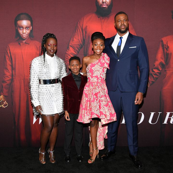 "Lupita Nyong'o, Evan Alex, Shahadi Wright Joseph and Winston Duke, the cast of Jordan Peele's ""Us"", was celebrated for reflec"