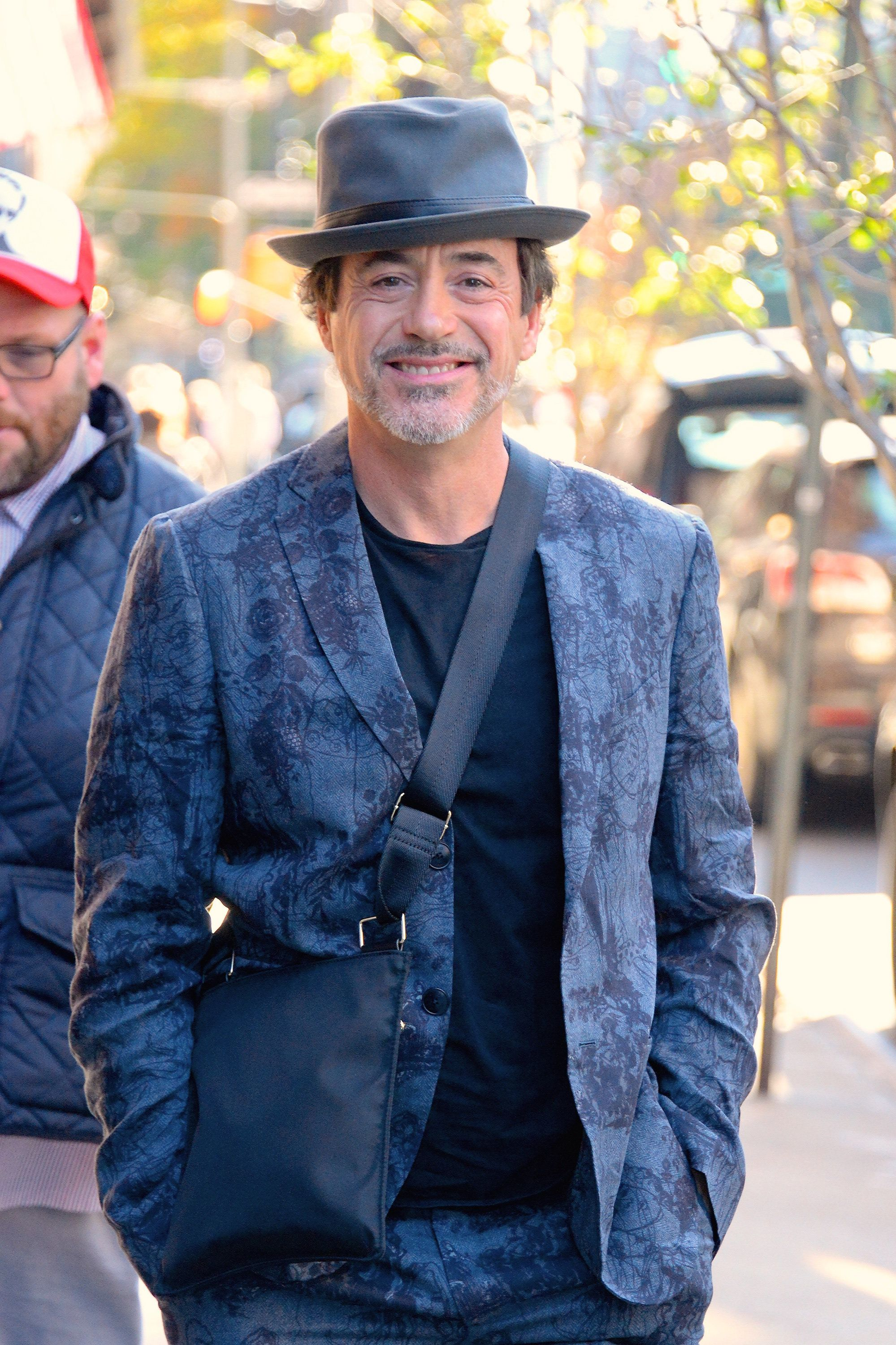 NEW YORK, NY - NOVEMBER 08:  Robert Downey Jr. seen out and about in Manhattan on  November 8, 2018 in New York City.  (Photo by Robert Kamau/GC Images)