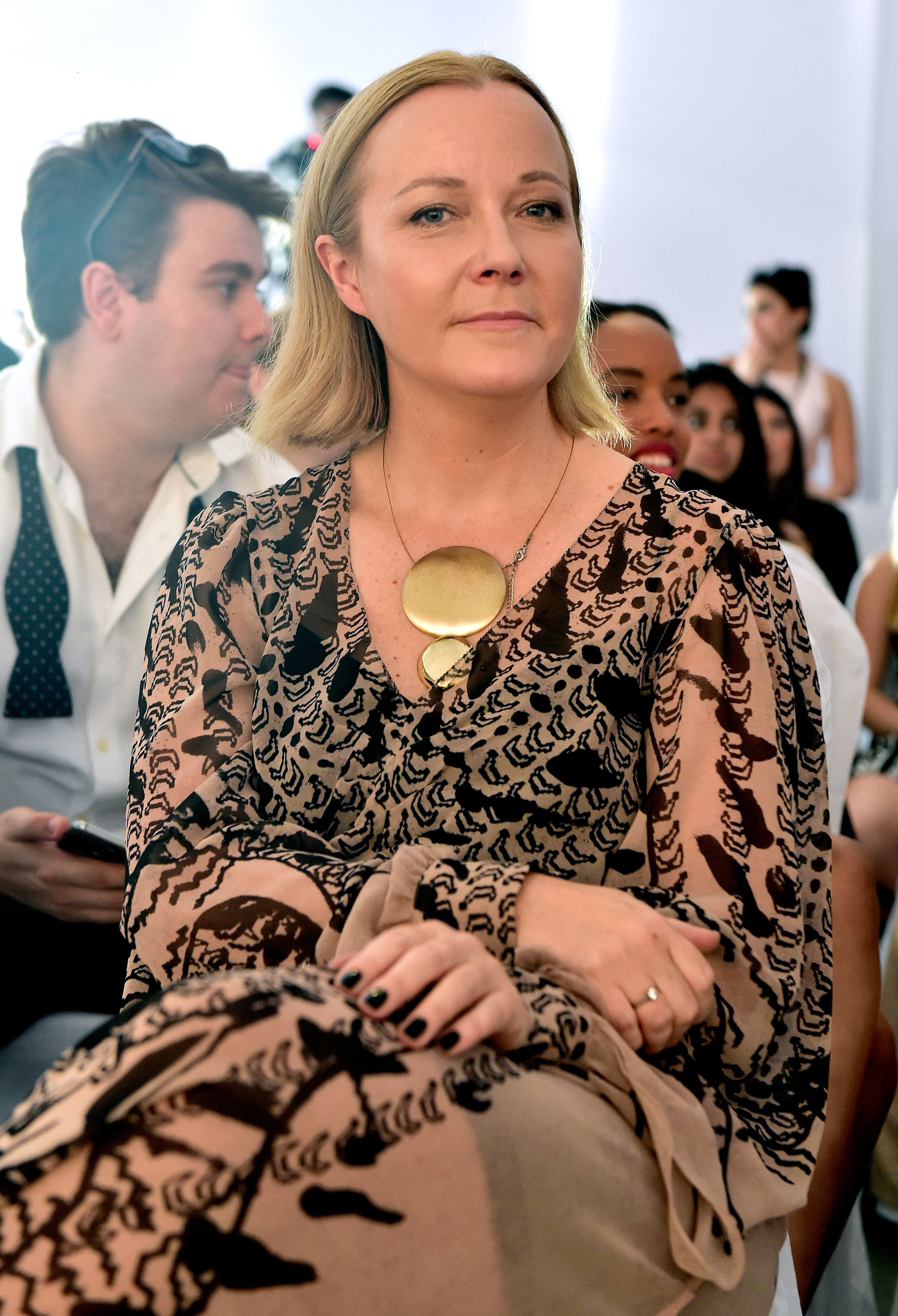 DUBAI, UNITED ARAB EMIRATES - OCTOBER 21:  Jane Boddy, head of womenswear and colour teams at WGSN, ahead of the Trend Forecasting with WGSN fashion talk during Fashion Forward Spring/Summer 2017 at the Dubai Design District on October 21, 2016 in Dubai, United Arab Emirates.  (Photo by Cedric Ribeiro/Getty Images)