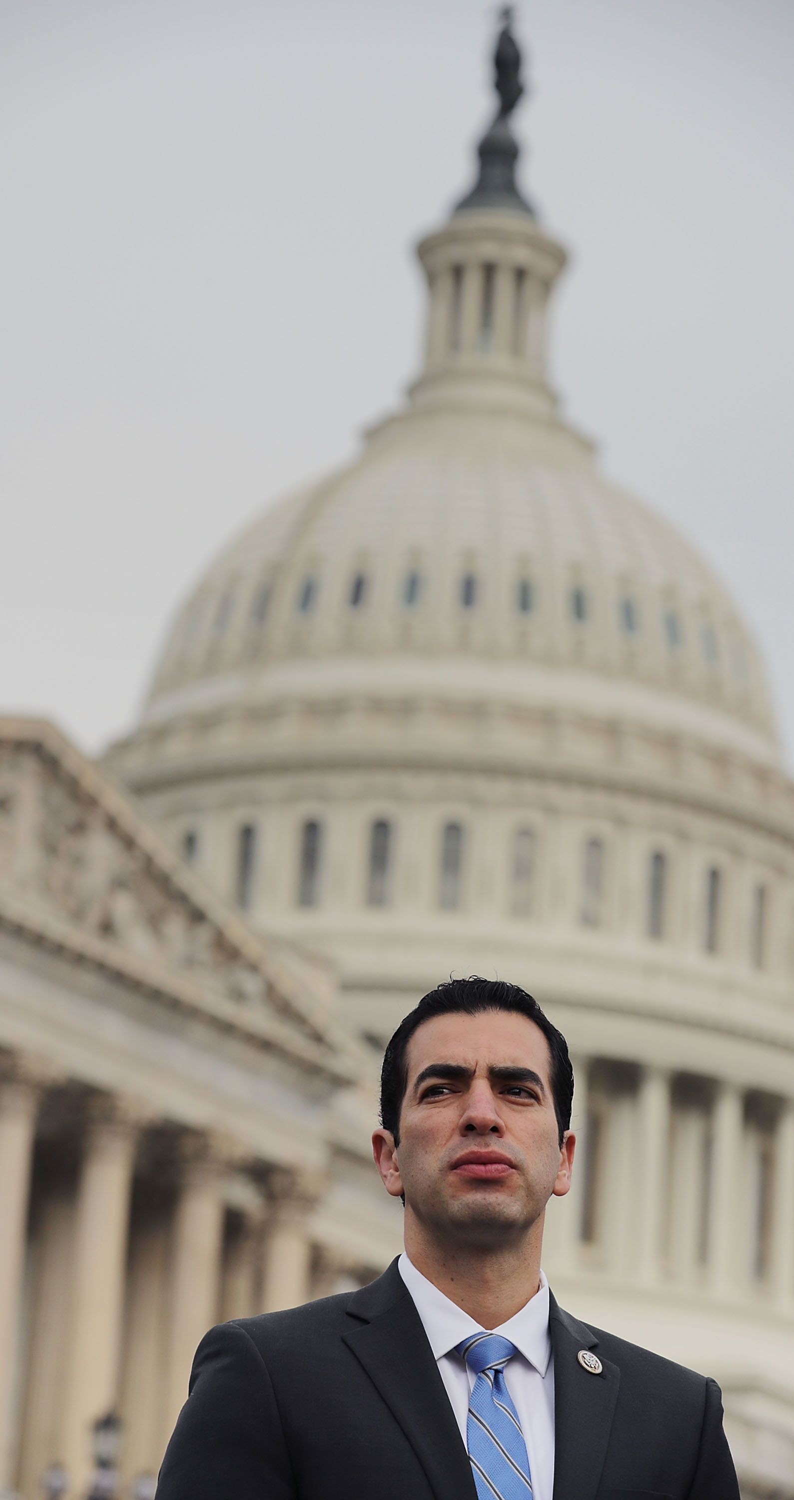 WASHINGTON, DC - NOVEMBER 01:  Rep. Ruben Kihuen (D-NV) joins fellow members of the Nevada congressional delegation to mark one month since the shooting in Las Vegas outside the U.S. Capitol November 1, 2017 in Washington, DC. The members of Congress were joined by victims and witnesses to the shooting, the worst in American history, and demanded congressional action to prevent future tragedies.  (Photo by Chip Somodevilla/Getty Images)