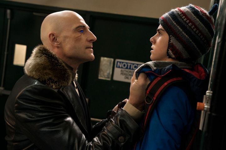 Mark Strong as Dr. Thaddeus Sivana and Jack Dylan Grazer as Freddy Freeman.