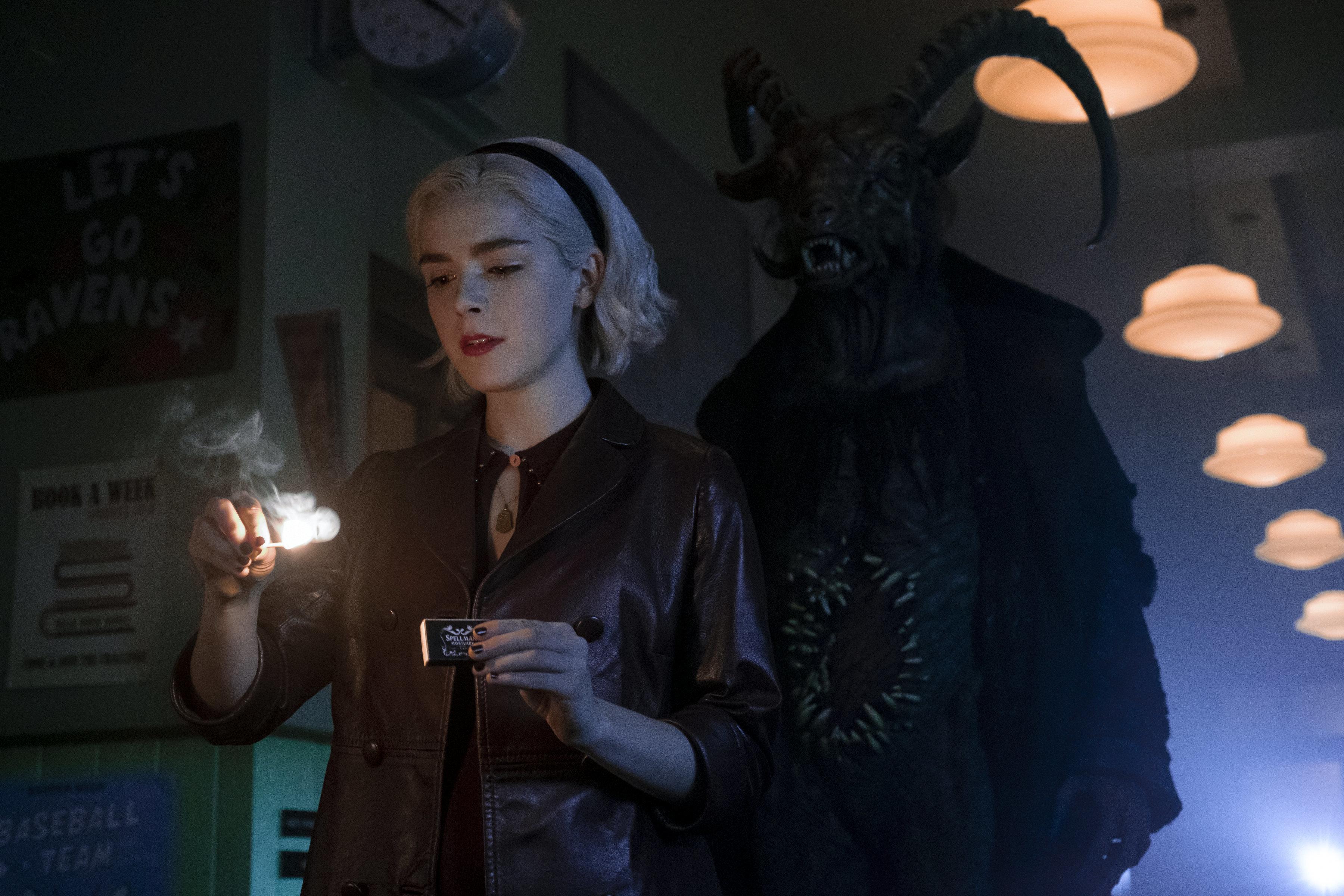 "Kiernan Shipka in ""Chilling Adventures of Sabrina"" on Netflix."