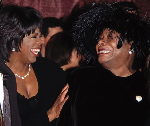 Oprah Winfrey and Maya Angelou attending the Celebration of Quincy Jones' 50th Year in Music