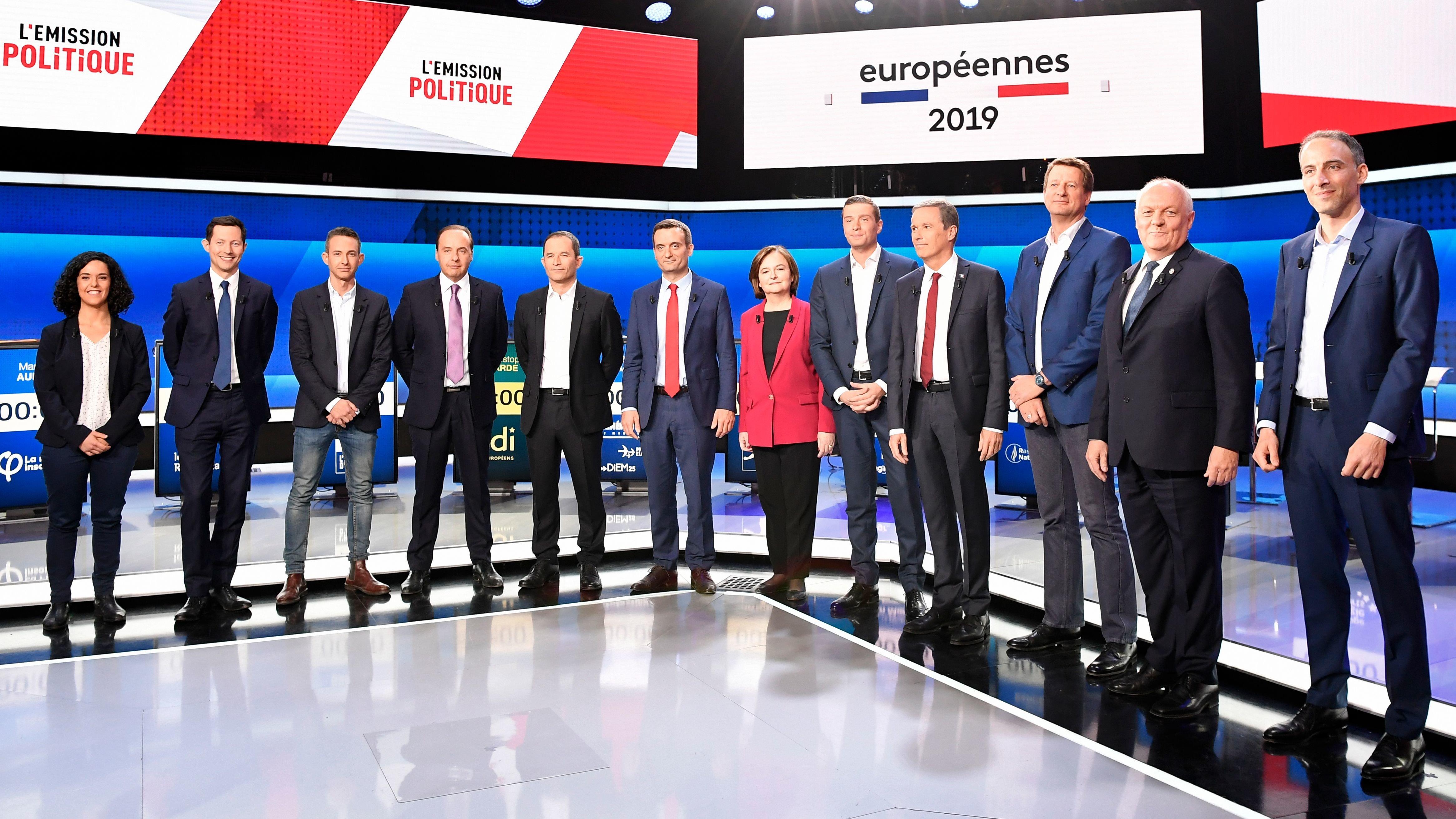 Les échanges lors du débat des européennes virent aux combats