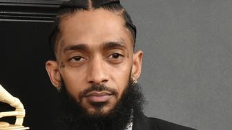 LOS ANGELES, CALIFORNIA - FEBRUARY 10: Nipsey Hussle attends the 61st Annual Grammy Awards at Staples Center on February 10, 2019 in Los Angeles, California. (Photo by David Crotty/Patrick McMullan via Getty Images)