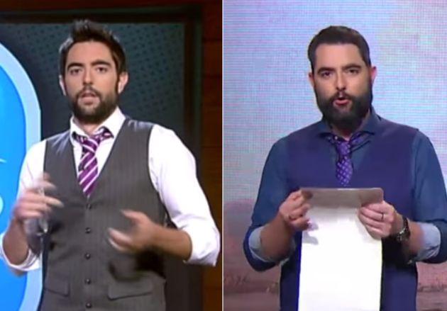 Dani Mateo, en su primer año en 'El Intermedio', en 2011, y en una de las últimas emisiones...