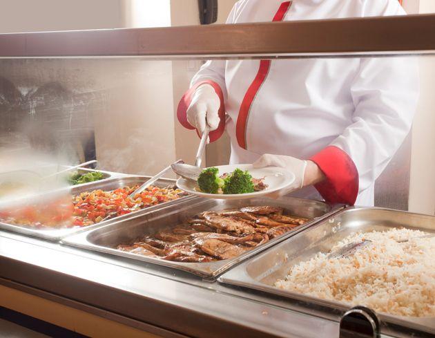 食堂のランチ イメージ写真