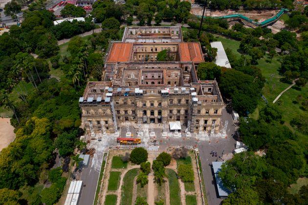 Incendie au Musée national de Rio: le système de climatisation mis en cause (Photo prise...
