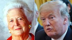 Donald Trump Fires Back At The Late Barbara Bush: 'She Should Be' Nasty To
