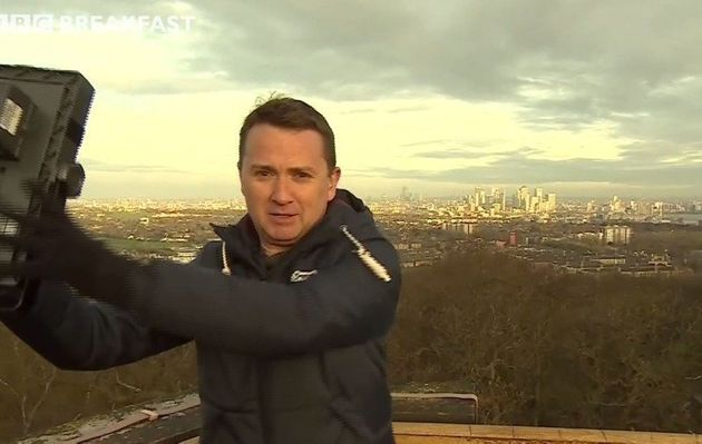 Moment TV Weatherman Narrowly Escapes Injury From Collapsing Live Broadcast