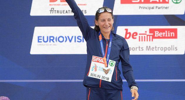 L'athlète française Clémence Calvin sacrée vice-championne d'Europe...