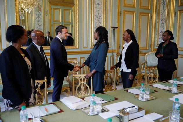 Emmanuel Macron areçu ce vendredi à l'Elysée des représentants de l'association...