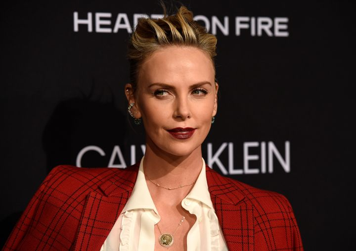 Charlize Theron poses at the 25th Annual ELLE Women in Hollywood Celebration in 2018.