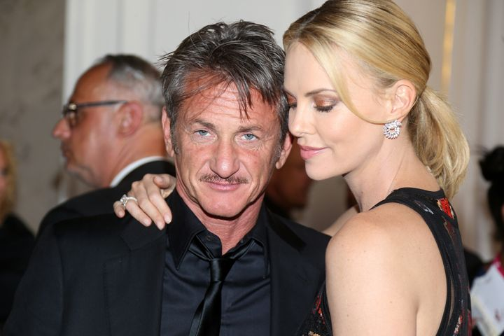 Sean Penn and Charlize Theron attend the AIDS Solidarity Gala together in 2015.