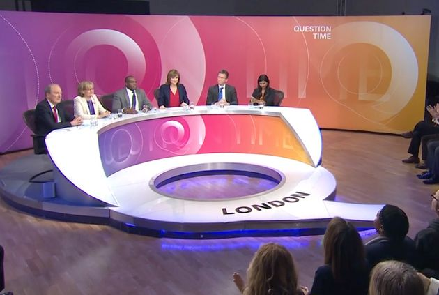 The location of this week's BBC Question Time was changed to Dulwich, south London, from Bolton,