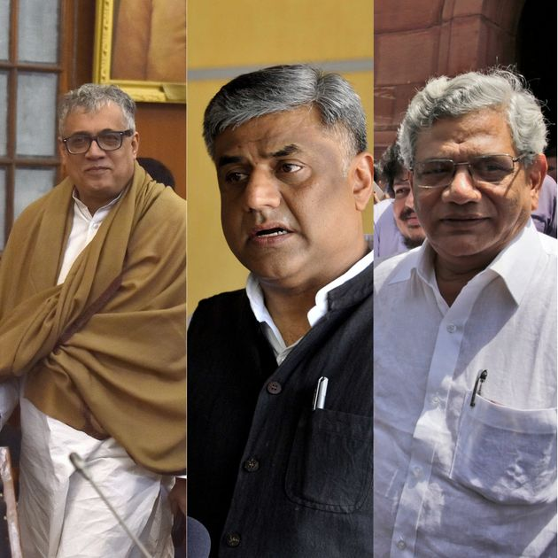 From Left: Trinamool Congress' Rajya Sabha Parliamentary Party Leader Derek O Brien, Congress party's...