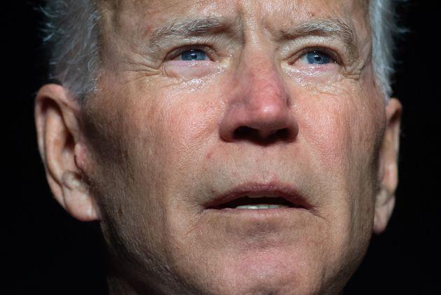 Former Vice President Joe Biden speaks during the First State Democratic Dinner in Dover, Delaware, on...