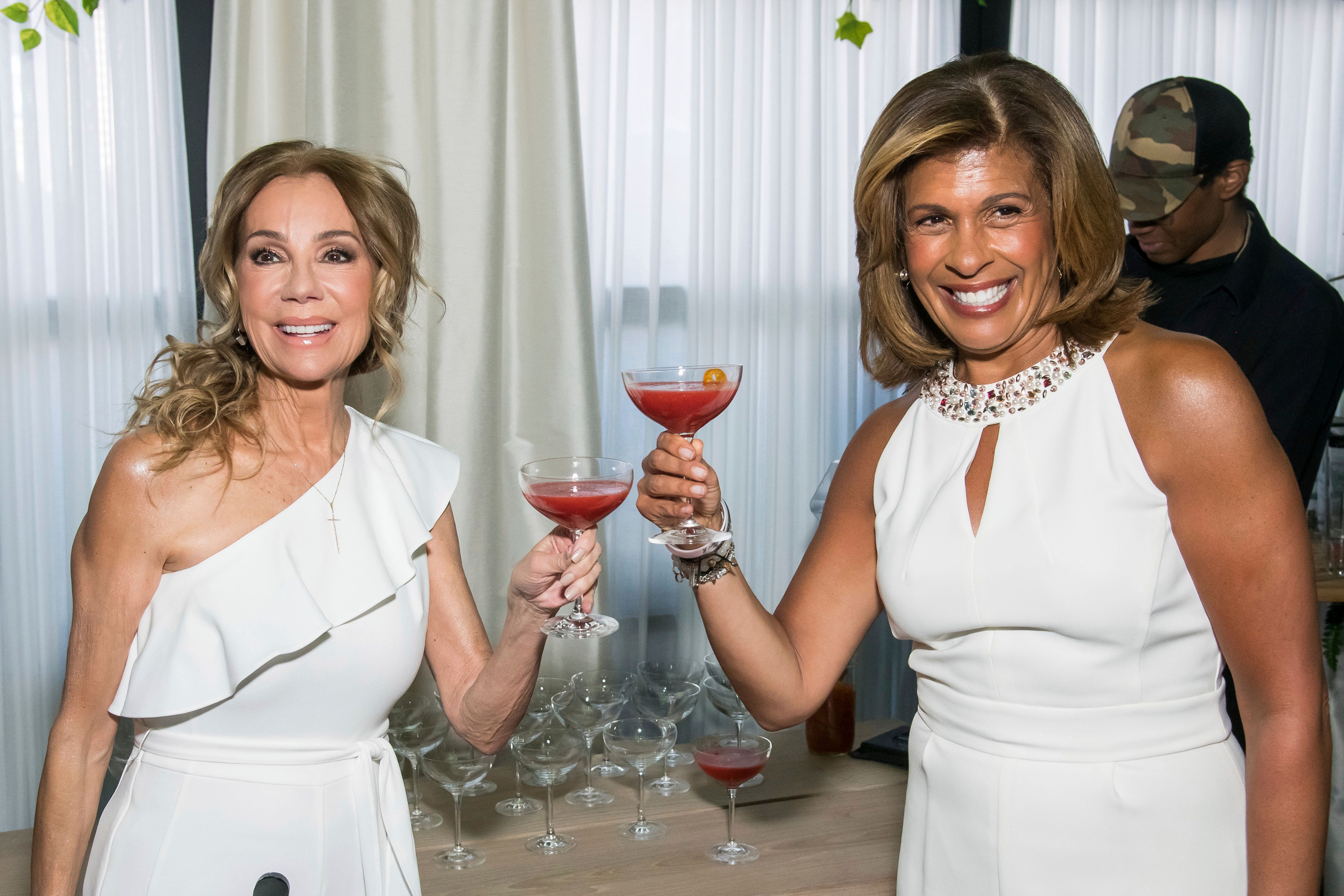 "Kathie Lee Gifford, left, and Hoda Kotb attend ""A Toast to Kathie Lee,"" the Kathie Lee Gifford farewell party at The Times Square Edition on Tuesday, March 26, 2019, in New York. (Photo by Charles Sykes/Invision/AP)"