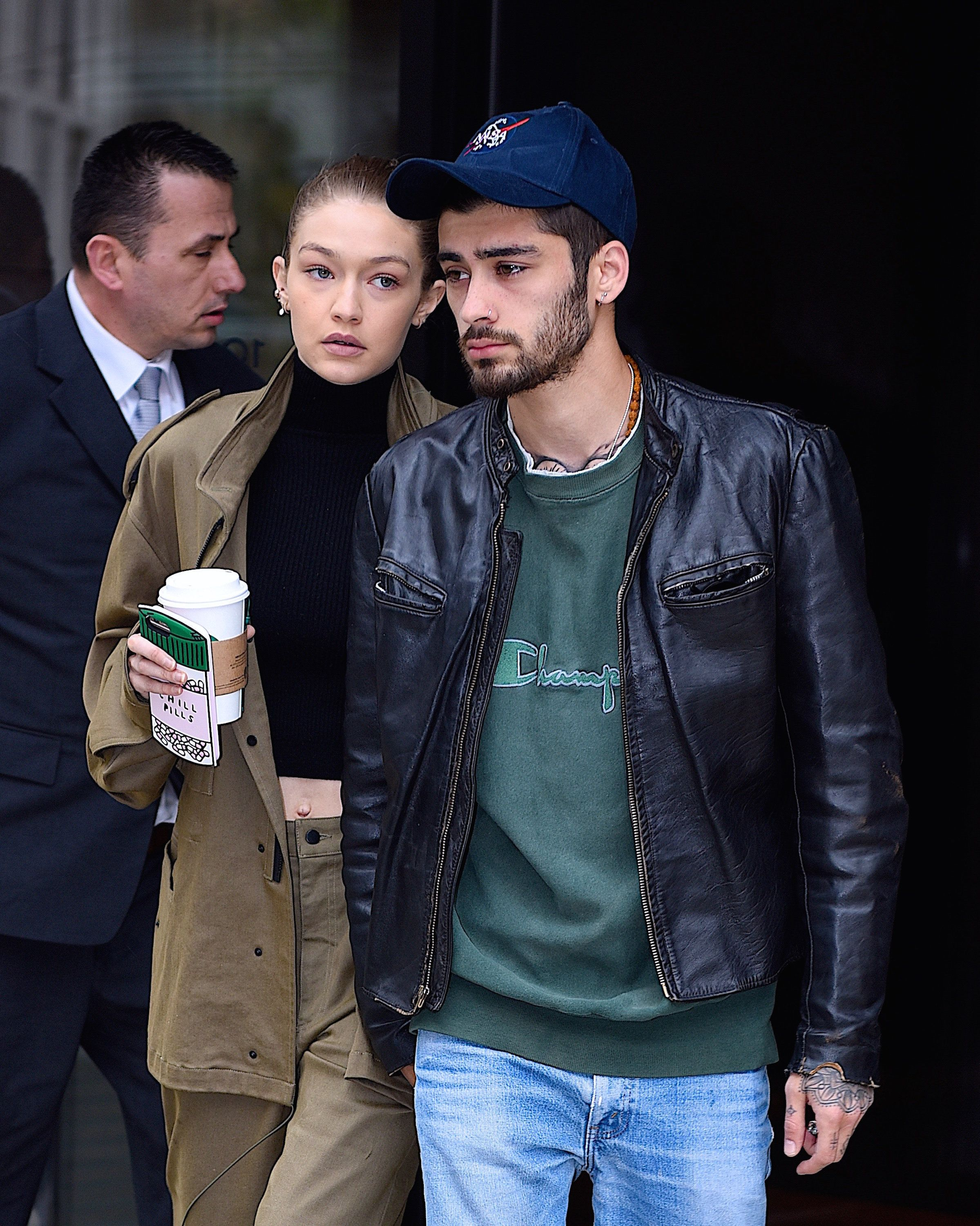 NEW YORK, NY - APRIL 25:  Gigi Hadid and Zayn Malik seen out in Manhattan on  April 25, 2017 in New York City.  (Photo by Robert Kamau/GC Images)