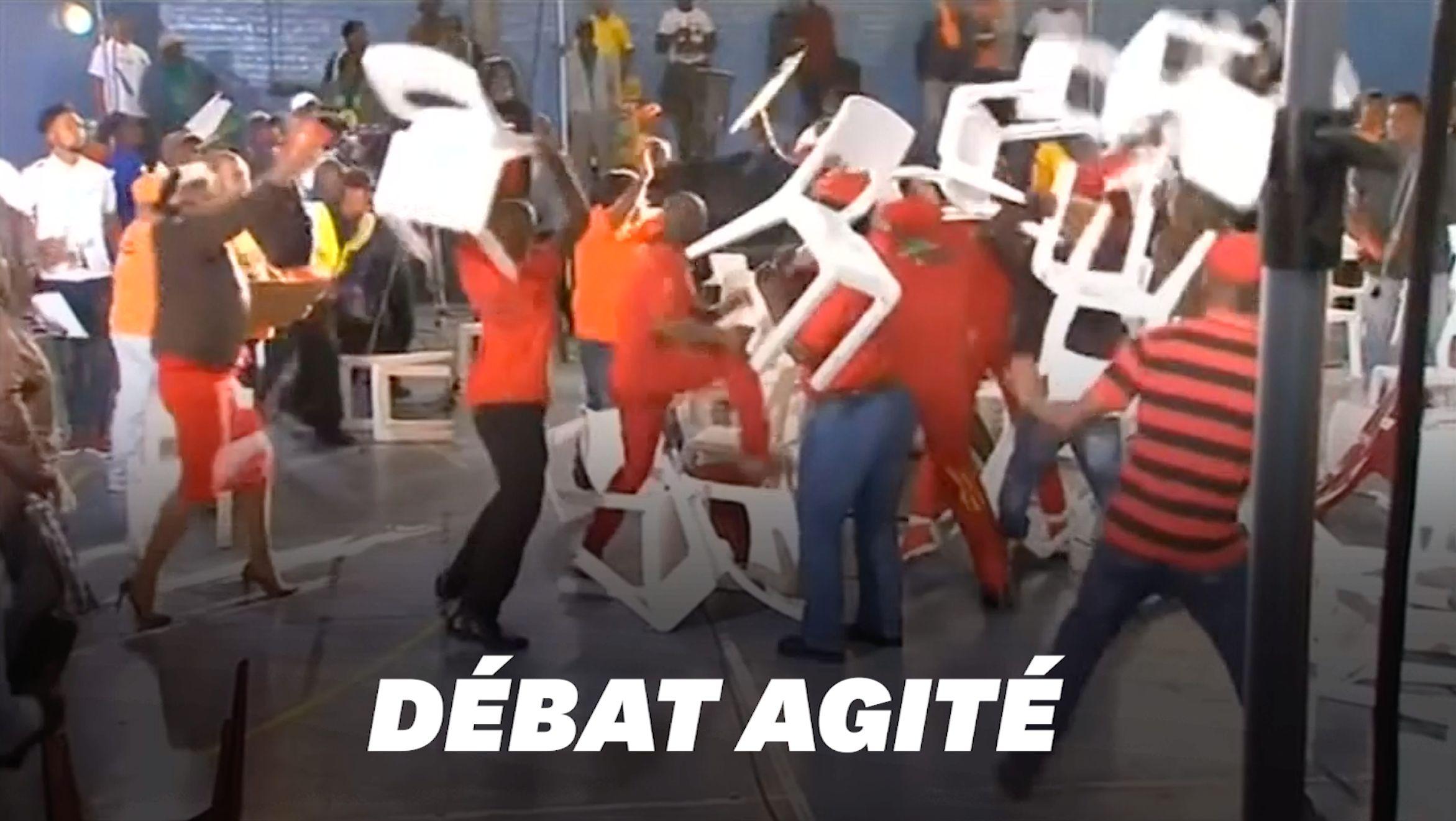 En Afrique du Sud, un débat télévisé termine en bagarre
