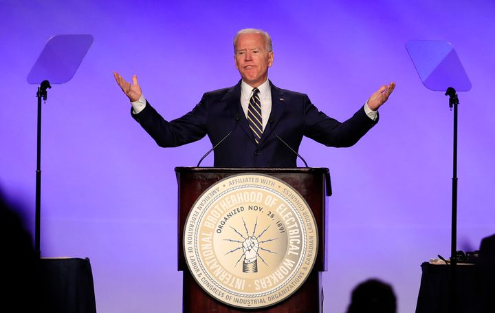 Vice President Joe Biden, in his speech Friday to the International Brotherhood of Electrical Workers, seemed to be aiming at