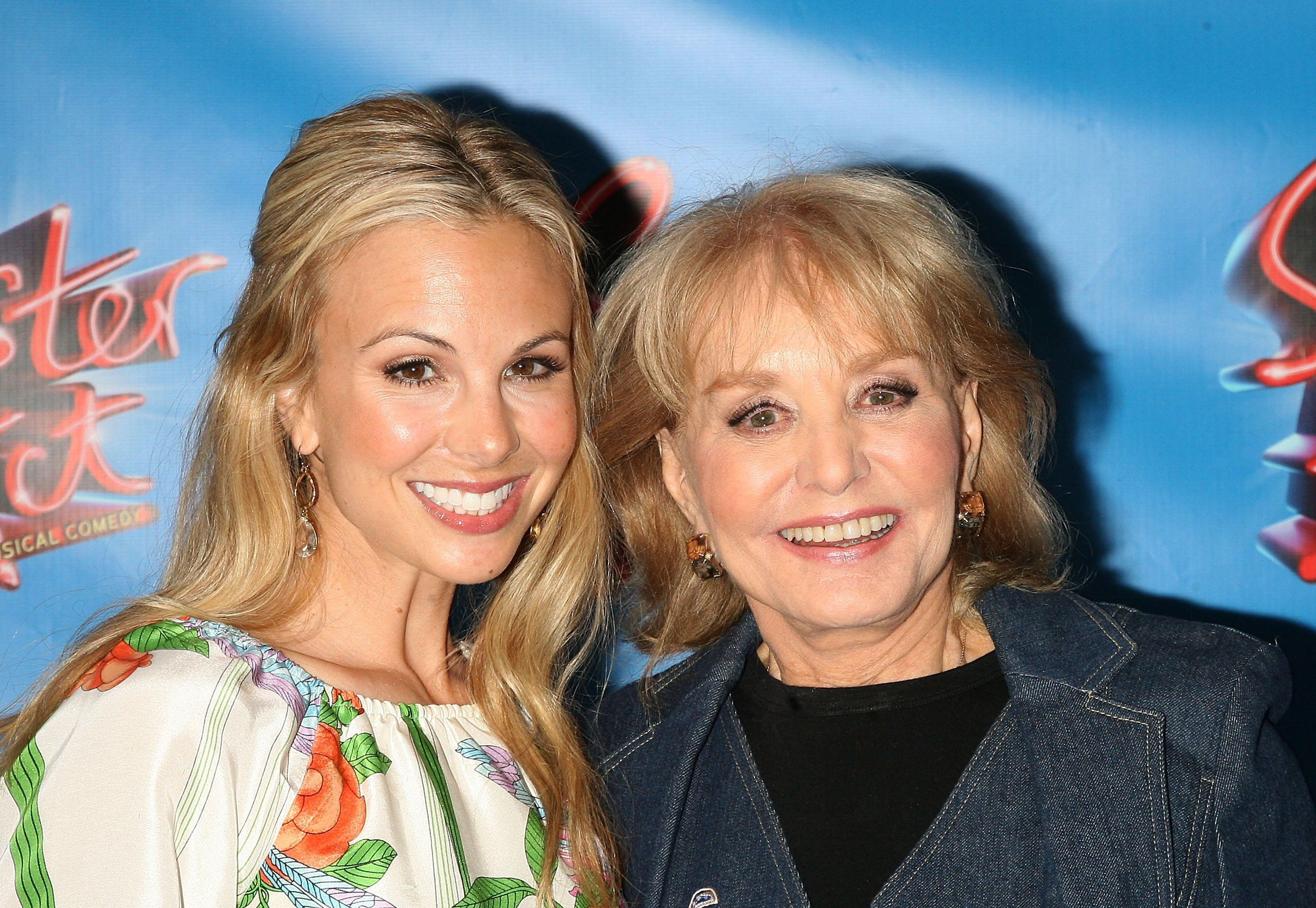 TV personalities Elisabeth Hasselbeck and Barbara Walters attend the Broadway opening night of 'Sister Act' at the Broadway Theatre on April 20, 2011 in New York City. (Photo by Jim Spellman/WireImage)