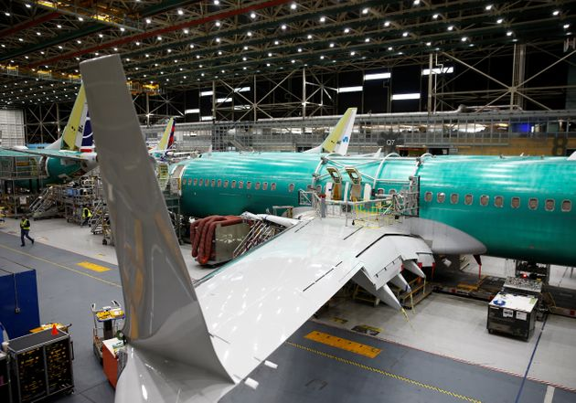A 737 Max aircraft is pictured at the Boeing factory in Renton, Washington last