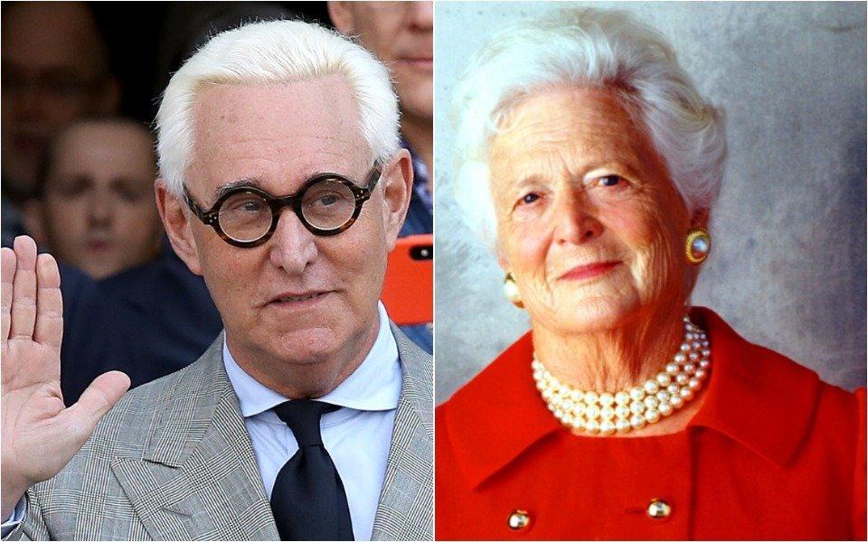 Roger Stone and Barbara Bush