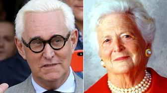 Roger Stone and Barbara Bush