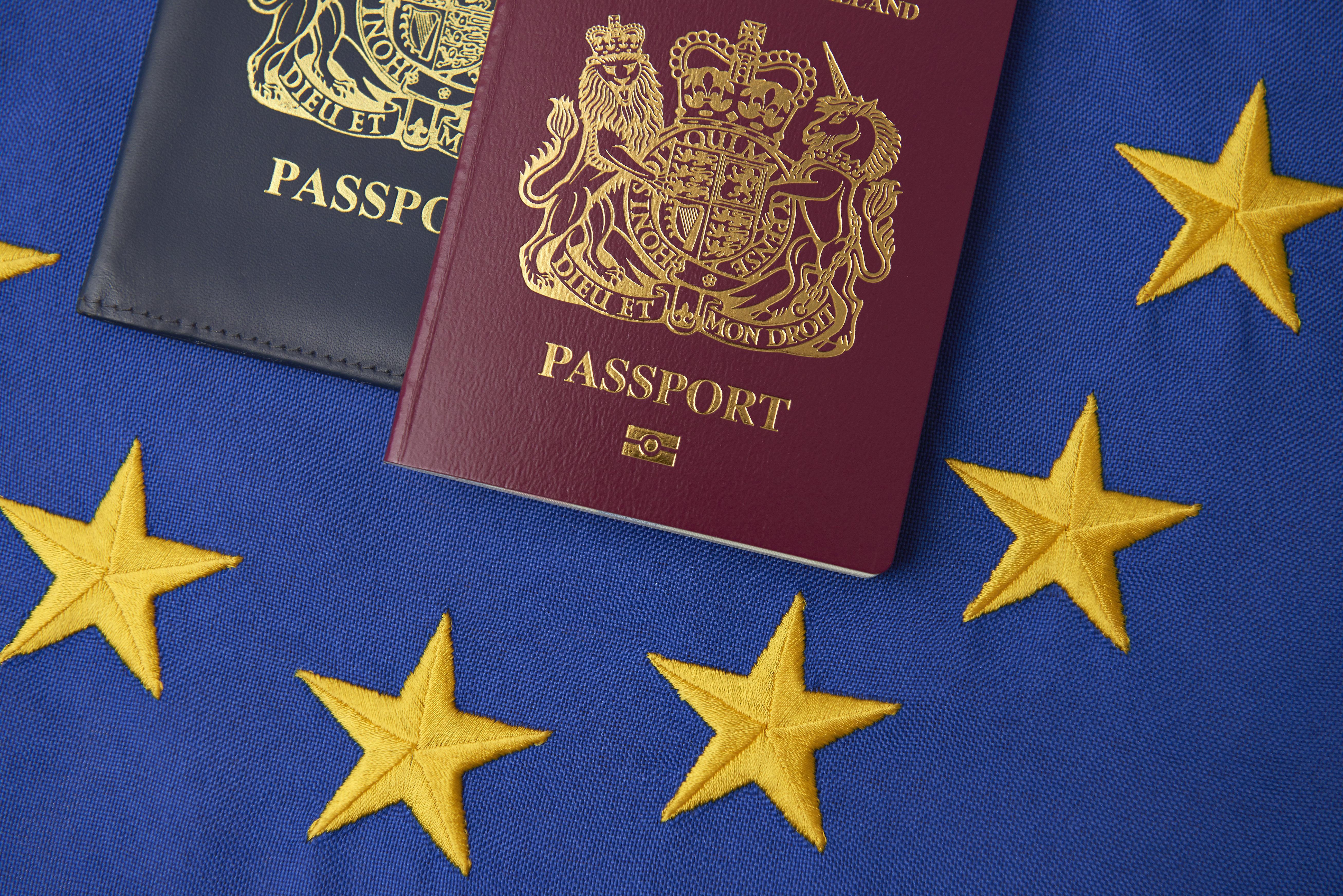 영국이 (벌써) 여권에서 '유럽연합'을