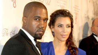 NEW YORK, NY - OCTOBER 22: Kanye West and Kim Kardashian at Angel Ball 2012 at Cipriani Wall Street in New York City. October 22, 2012. Credit: RW/MediaPunch Inc. /IPX