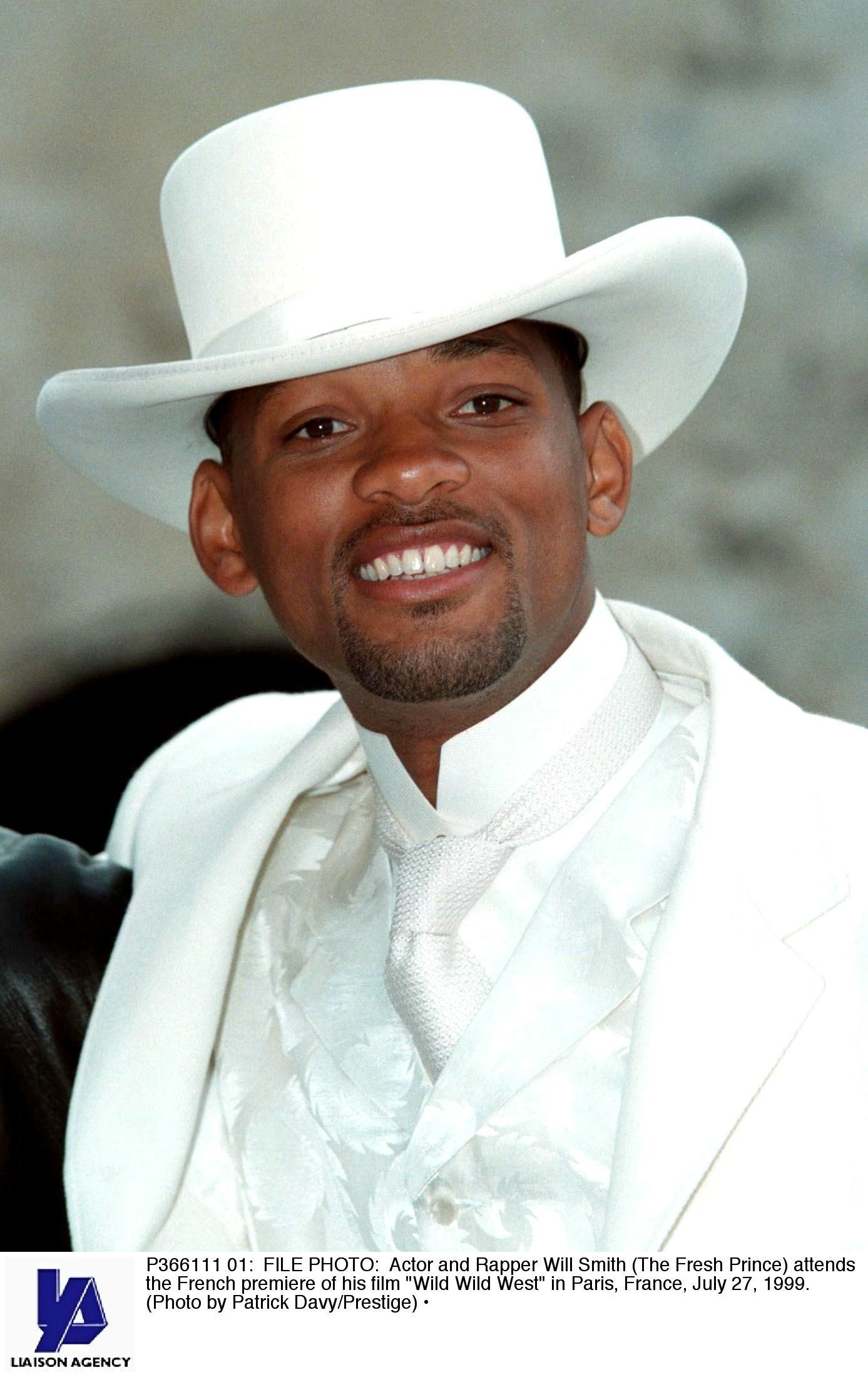 P366111 01: FILE PHOTO: Actor and Rapper Will Smith (The Fresh Prince) attends the French premiere of his film 'Wild Wild West' in Paris, France, July 27, 1999. (Photo by Patrick Davy/Prestige)