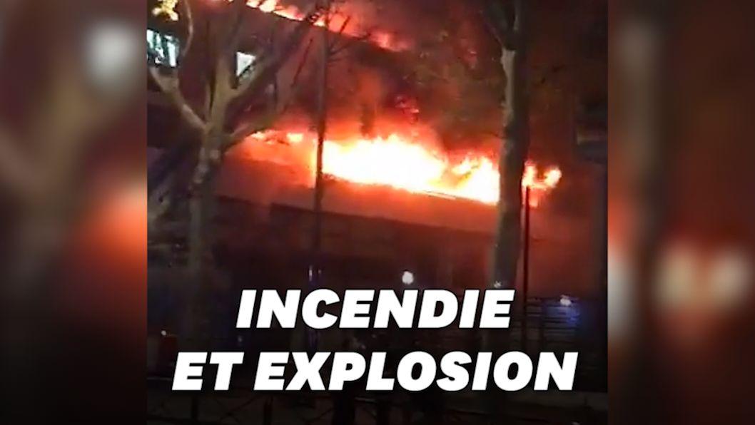 Les images de l'incendie qui a ravagé un immeuble du 19ème arrondissement de