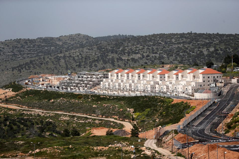 A general view shows the Israeli settlement of Beitar Illit in the Israeli-occupied West Bank April 7,