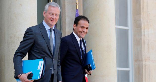 Le ministre de l'Économie Bruno Le Maire et Cédric O, son nouveau collègue du Numérique...