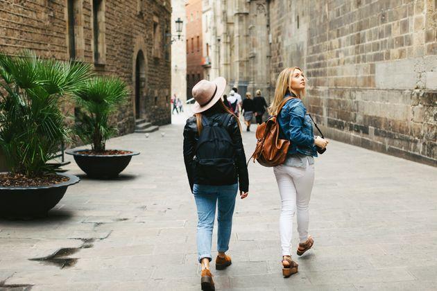 Dos turistas en